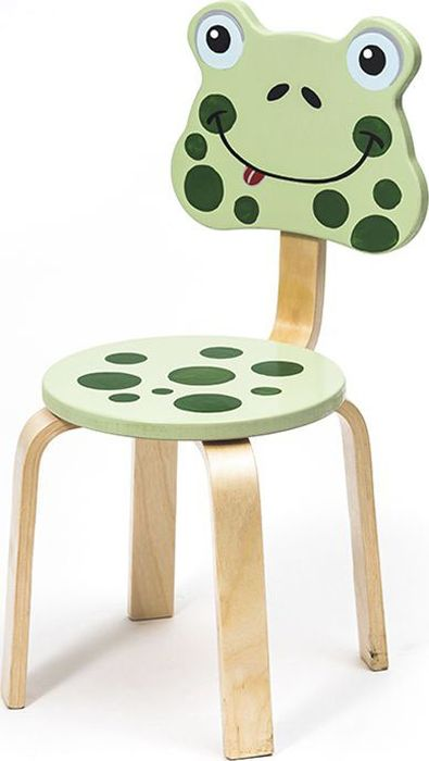 Крошка.RU Мордочки Стул детский Лягушка цвет зеленый -  Детская комната