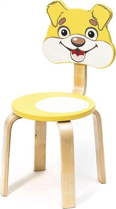 Крошка.RU Мордочки Стул детский Собачка цвет желтый -  Детская комната
