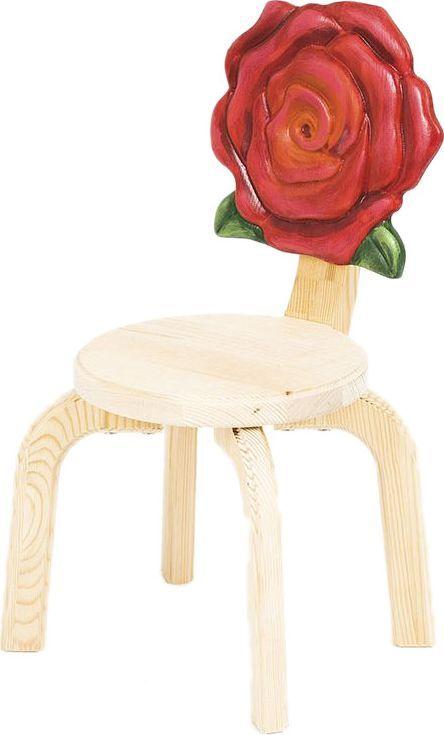 Вы ищете красивую и качественную мебель для маленькой девочки, которую зовете не иначе как Принцесса? Она любит сказки про волшебство и фей, принцев и принцесс, верит в единорогов…   Авторские стульчики и столики серии Цветочки специально созданы для маленьких Принцесс. Пусть в комнате вашей дочери поселятся Розы, Маргаритки, Маки или Анютины глазки.   Стульчик Розочка изготовлен из массива сосны и покрыт лаком НЦ. Спинка стула расписана вручную - краски НЦ (Ярославские краски). Он красив, очень удобен и долговечен.  Ваша малышка будет довольна.  В комплект к стульчику прекрасно подойдет стол из серии Цветочки.  Мебель серии Цветочки - прекрасный вариант не только для квартиры, но и для загородного дома.  Подходит для детей от 1,5 до 6 лет.