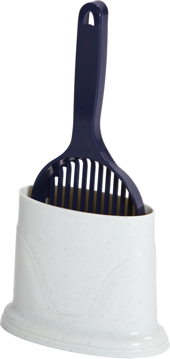 Совок для кошачьего туалета, с держателем, цвет: молочный, темно-фиолетовыйCAT-S2 Dark BlueСовок пригодится вам для быстрой и аккуратной уборки наполнителя из кошачьего туалета. Оснащенный решеткой, совок отделит грязное содержимое лотка от чистого. Выполнен из прочного материала и имеет удобную конструкцию. Его легко мыть.Изделие дополнено удобным держателем. Размер совка: 12,3 х 34 см. Размер держателя: 14,5 x 18,5 x 10 см.