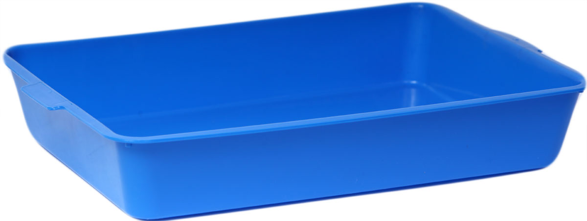 Туалет для кошек, цвет: синий, 31 x 43,5 x 7,5 см. CAT-L03 Blue туалет для кошек бергамо средний 45х35х10 см
