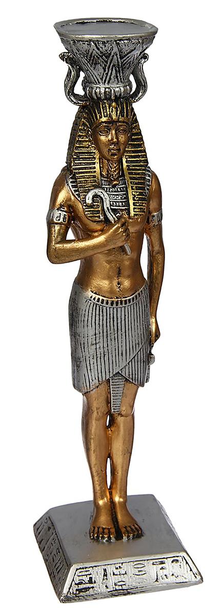 """Невозможно представить нашу жизнь без праздников! Мы всегда ждем их и предвкушаем, обдумываем, как проведем памятный день, тщательно выбираем подарки и аксессуары, ведь именно они создают и поддерживают торжественный настрой.  Подсвечник Premium Gips """"Фараон"""" — это отличный выбор, который привнесет атмосферу праздника в ваш дом! Известно, что на пламя можно смотреть вечно: его мягкое золотистое сияние проясняет сознание и чарует. Огонь свечи притягивает наше внимание еще больше. Он делает атмосферу загадочной и романтичной."""