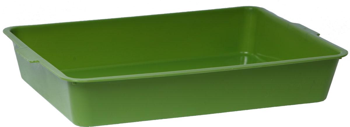Туалет для кошек, цвет: оливковый, 31 x 43,5 x 7,5 см. CAT-L03 Oliver Green туалет для кошек бергамо средний 45х35х10 см