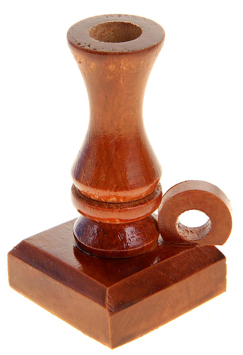 Подсвечник Доброе дерево, с ручкой, цвет: коричневый, 6 х 6 х 9 см