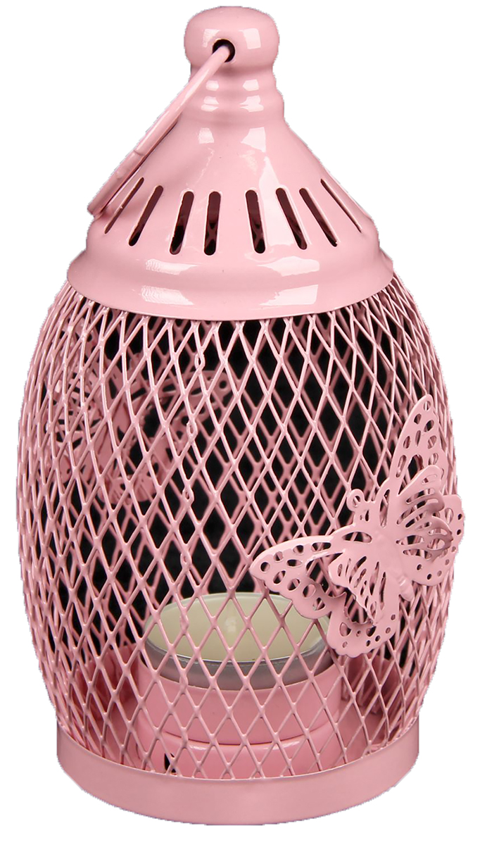Подсвечник Уличный фонарь в сеточку с бабочками, цвет: розовый, 8,5 х 8,5 х 16 см2266228Невозможно представить нашу жизнь без праздников! Мы всегда ждем их и предвкушаем, обдумываем, как проведем памятный день, тщательно выбираем подарки и аксессуары, ведь именно они создают и поддерживают торжественный настрой. — это отличный выбор, который привнесет атмосферу праздника в ваш дом!Известно, что на пламя можно смотреть вечно: его мягкое золотистое сияние проясняет сознание и чарует. Огонь свечи притягивает наше внимание еще больше. Он делает атмосферу загадочной и романтичной.