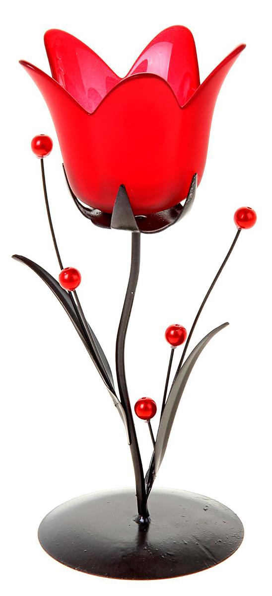 Подсвечник Колокольчик с бусинками, цвет: красный, 9 х 9 х 21 см418951Изысканный подсвечник станет превосходным подарком и украшением интерьера. Он будетрадовать вас и ваших близких, как только вы зажжете свечу. Изделие отлично смотрится нажурнальном столике или полочке с книгами.