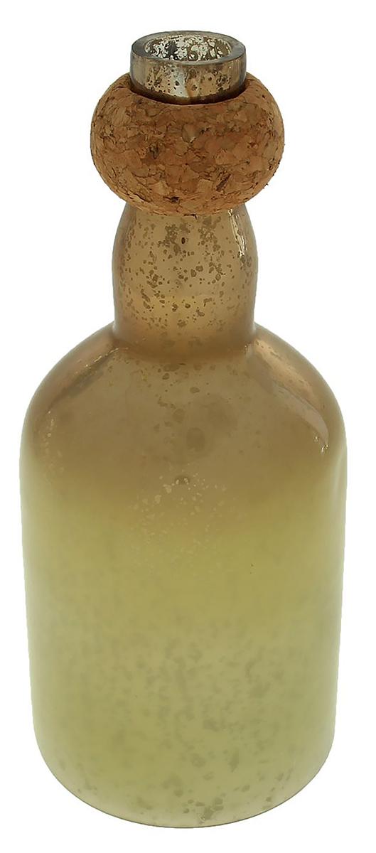 Подсвечник Бутыль, цвет: коричневый, 10 х 10 х 24 см1044310Прекрасный Подсвечник Бутыль в форме бутылки выполнен из высококлассного стекла. Мастера-ремесленники удивили этим необычным дизайном. Гладя на него, задаешься вопросом: «Как же это работает?». Но стоит взять в руки это чудо-изделие, сразу понимаешь что делать дальше. Оригинальная цветовая гамма, обтекаемая форма буквально завораживают.Украсьте подобными подсвечниками каминный зал или гостиную.