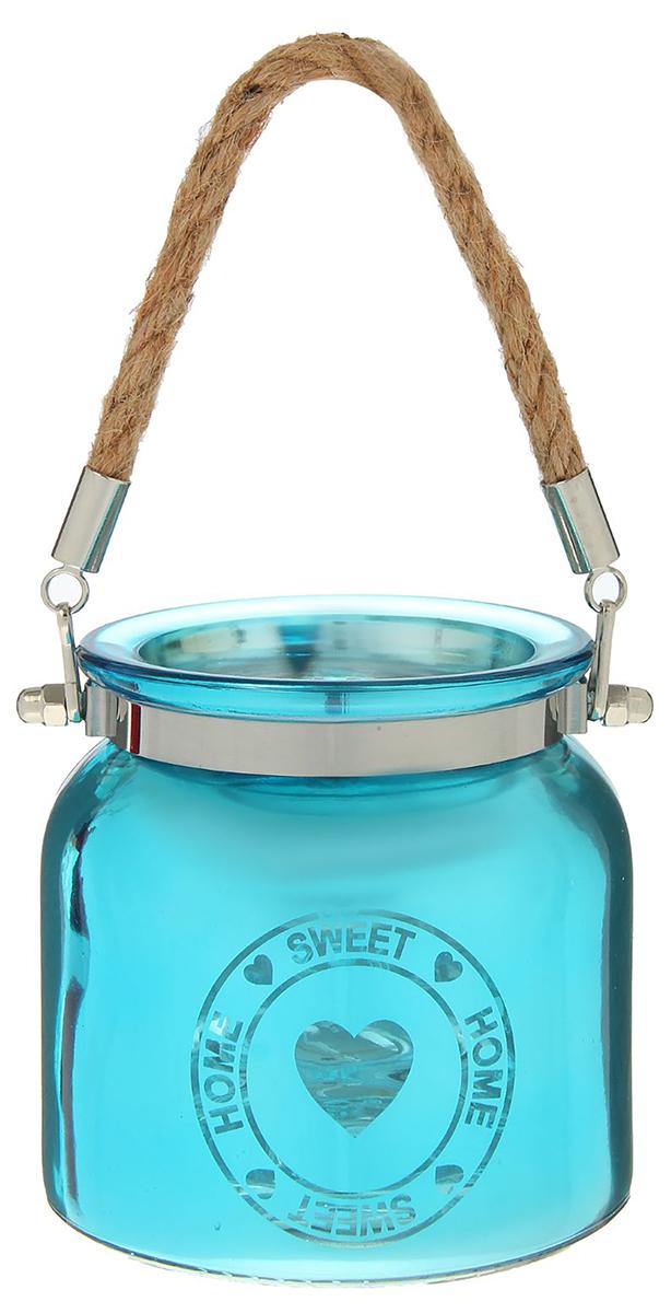 Подсвечник Home Sweet Home, цвет: синий, 10,5 х 10,5 х 10,5 см2260791Невозможно представить нашу жизнь без праздников! Мы всегда ждем их и предвкушаем, обдумываем, как проведем памятный день, тщательно выбираем подарки и аксессуары, ведь именно они создают и поддерживают торжественный настрой. — это отличный выбор, который привнесет атмосферу праздника в ваш дом!Известно, что на пламя можно смотреть вечно: его мягкое золотистое сияние проясняет сознание и чарует. Огонь свечи притягивает наше внимание еще больше. Он делает атмосферу загадочной и романтичной.