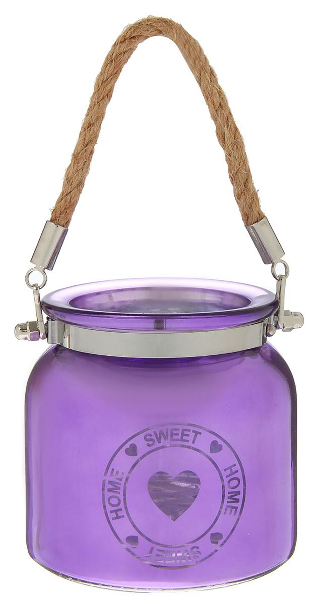 Подсвечник Home Sweet Home, цвет: фиолетовый, 10,5 х 10,5 х 10,5 см2260793Невозможно представить нашу жизнь без праздников! Мы всегда ждем их и предвкушаем, обдумываем, как проведем памятный день, тщательно выбираем подарки и аксессуары, ведь именно они создают и поддерживают торжественный настрой. — это отличный выбор, который привнесет атмосферу праздника в ваш дом!Известно, что на пламя можно смотреть вечно: его мягкое золотистое сияние проясняет сознание и чарует. Огонь свечи притягивает наше внимание еще больше. Он делает атмосферу загадочной и романтичной.
