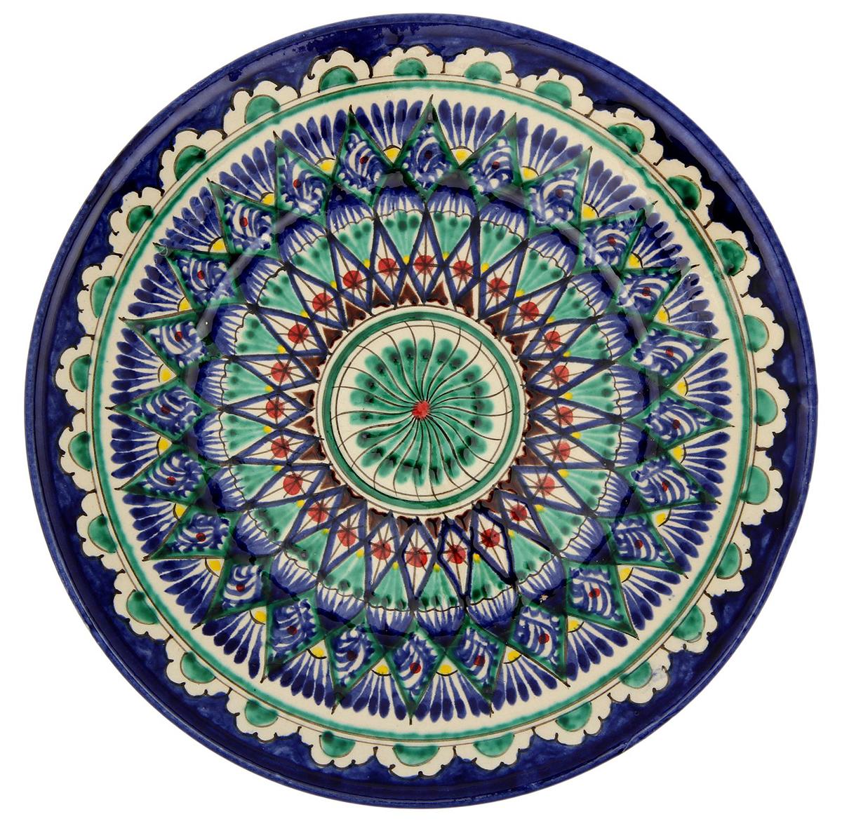 """Тарелка """"Риштанская керамика"""", цвет: мультиколор, диаметр 23 см."""