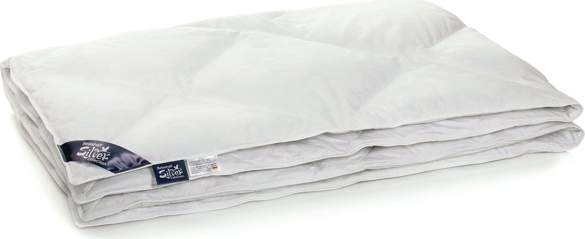Belashoff Silver Одеяло 916 цвет белый 200 x 220 смОSД-3Оригинальная стежка одеяла и две разные степени упругости подушки представлены в эксклюзивной Коллекции 916.Уникальная подушка 2 в 1 Коллекции 916 поперечно разделена на две камеры: одна камера – мягкая, вторая – упругая. Уникальное сочетание наполнителя в изделиях данной коллекции позволит вам пользоваться двумя подушками, приобретая при этом только одну. Вы сможете менять степень упругости по настроению.Одеяло данной коллекции выполнено с диагональными кассетами, благодаря чему выглядит стильно и оригинально.Элитный белый сатин - блестящая плотная хлопковая ткань – достойно прослужит вам долгие годы.