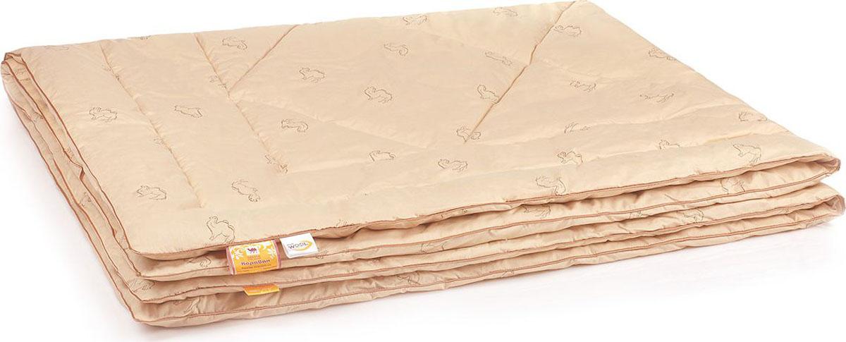 Belashoff Одеяло Караван цвет бежевый 200 x 220 смОШВ4-3ЛИзделия из верблюжьей шерсти подарят вам не только теплый комфортный сон, но и здоровье. В нашей коллекции Караван наполнитель из верблюжьей шерсти с использованием новейшей технологии ее обработки — упругий и мягкий одновременно, обладает чудесным свойством снимать напряжение, накопившееся у человека за день.