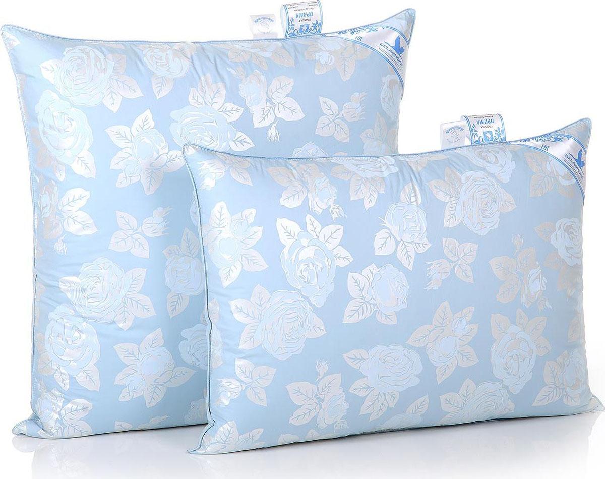 Belashoff Подушка Прима цвет голубой 50 x 70 смП2-2Особо высокая легкость и изящество отличает изделия с наполнителем из пуха водоплавающей птицы. Коллекция Прима — неоспоримое тому доказательство. Обладая великолепными теплозащитными свойствами, это одеяло согреет вас даже в самую холодную ночь, а мягкая и упругая подушка обеспечит оптимальную поддержку головы во время сна.
