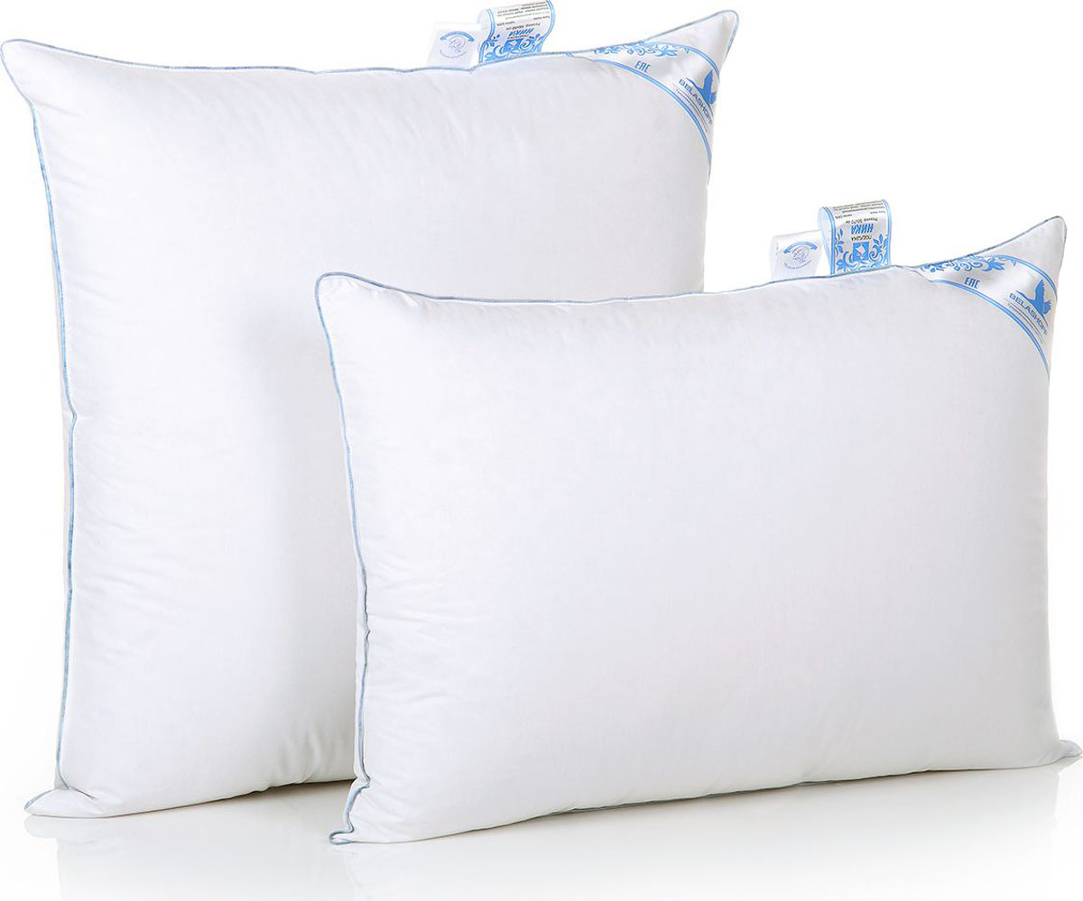 Belashoff Подушка Ника цвет белый 68 x 68 смПН1-1Особенная коллекция Ника — это новый взгляд на качество вашего сна! Невероятно теплое, легкое одеяло и уникальная подушка подарят вам комфорт и наслаждение.Мелкое перышко гуся, лежащее в основе внутреннего ядра подушки, придает ей эластичность и упругость, что обеспечивает правильное положение головы во время сна. А серый гусиный пух во внешней оболочке добавляет подушке благородную воздушность и мягкость. Благодаря новейшим разработкам в коллекции Ника у вас появилась возможность окунуться в мир современного комфорта.
