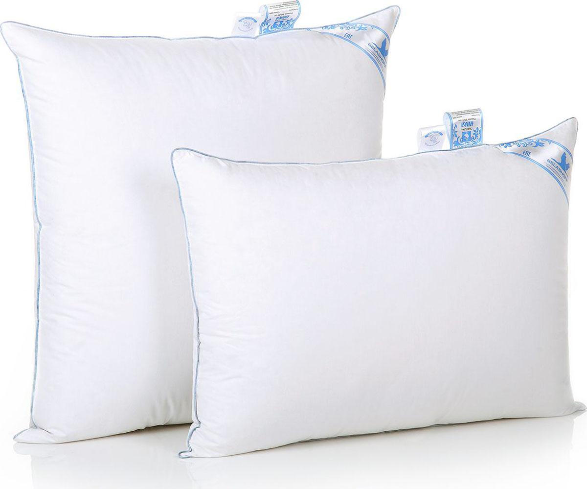 Belashoff Подушка Ника цвет белый 50 x 70 смПН1-2Особенная коллекция Ника — это новый взгляд на качество вашего сна! Невероятно теплое, легкое одеяло и уникальная подушка подарят вам комфорт и наслаждение.Мелкое перышко гуся, лежащее в основе внутреннего ядра подушки, придает ей эластичность и упругость, что обеспечивает правильное положение головы во время сна. А серый гусиный пух во внешней оболочке добавляет подушке благородную воздушность и мягкость. Благодаря новейшим разработкам в коллекции Ника у вас появилась возможность окунуться в мир современного комфорта.