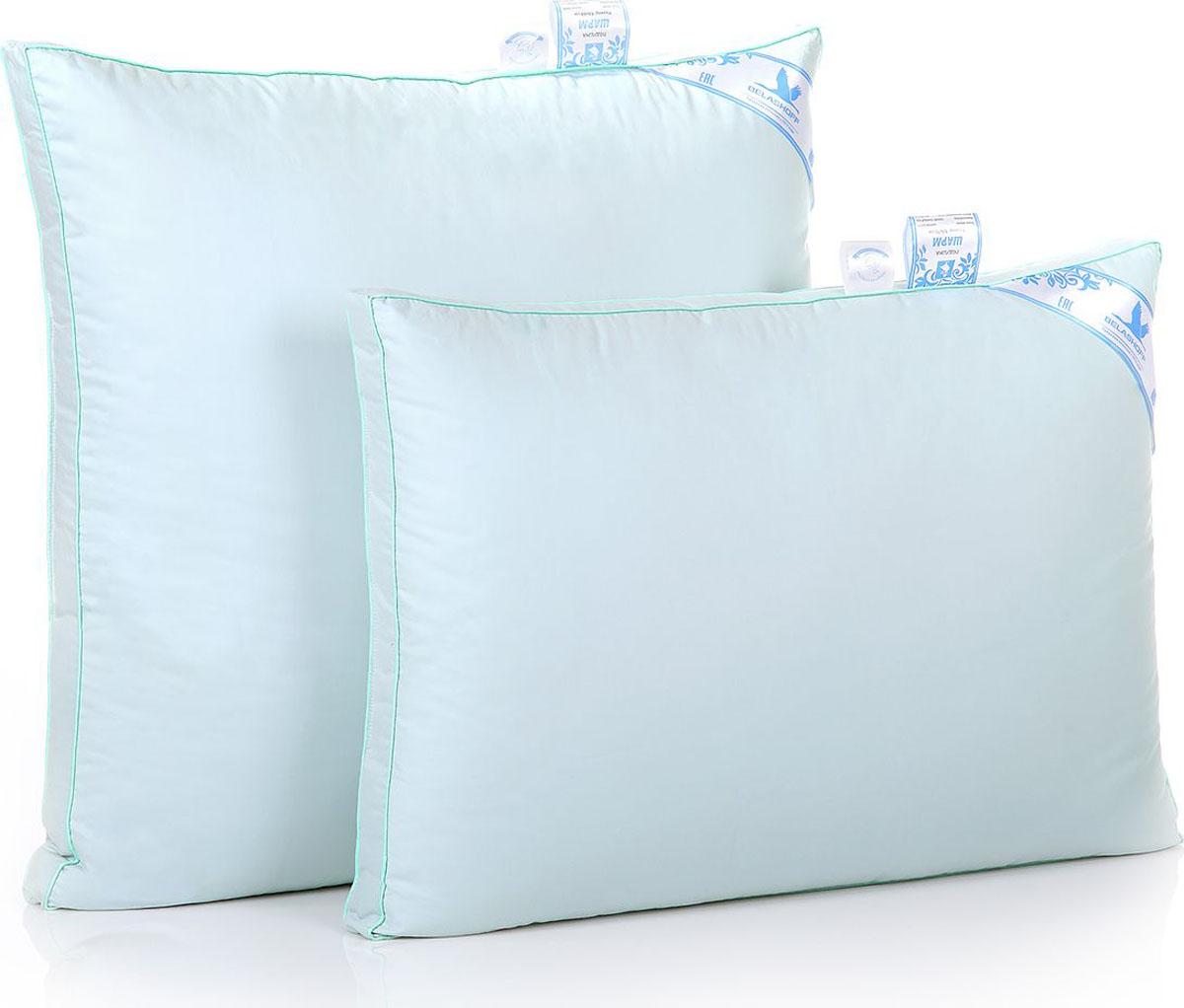 Belashoff Подушка Шарм цвет голубой 50 x 70 смПШ1-2Коллекцию Шарм оценят покупатели с чувством стиля, ценящие комфорт и качество. Неповторимый внешний вид и дополнительный объем изделиям придает бортик — оригинальная деталь кроя чехла.Равномерное распределение наполнителя обеспечивает кассетная конструкция одеял, а особенная конструкция подушки способствует расслаблению мышц шеи, обеспечивая идеальные условия для сна.