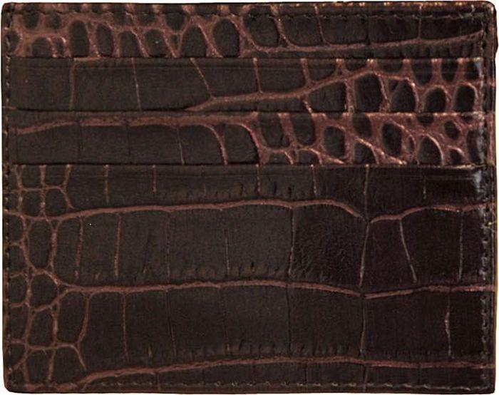 Визитница женская Dimanche Крокодил, цвет: бронзовый. 93089