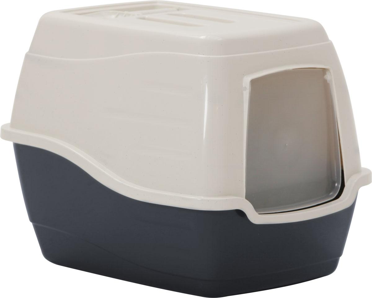 Туалет-лоток для кошек, цвет: серый, молочный, 50 x 40 x 39 см. CAT-L27 GreyCAT-L27 GreyТуалет-лоток для кошек удерживает неприятные запахи, предотвращает рассыпание наполнителя. Изготовлен из высококачественного пластика, легко моется и не впитывает запахи. Специально разработанная верхняя крышка, облегчает уборку туалета.Благодаря открывающейся фронтальной дверце ваш питомец быстро и удобно попадет в такой туалет-домик.Внутреннее отделение представляет собой глубокий отсек, в котором поместится ваш любимец.Укомплектовано такое изделие фильтром, а также совком, который выполнен с дополнительными отверстиями.Преимущества закрытого туалета очевидны: меньше распространяются неприятные запахи, наполнитель не рассыпается вокруг туалета (особенно актуально для кошек, которые любят покопаться в наполнителе);идеально подходит для кошек, которые любят долго и упорно зарывать, используя при этом не только наполнитель, но и все, что попадет под лапу.Туалет-лоток удобно переносить с помощью верхней пластиковой ручки.