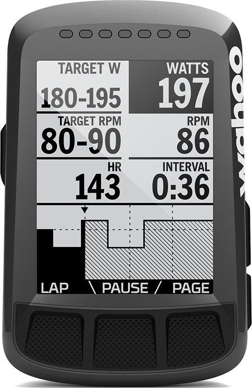 Велокомпьютер Wahoo Elemnt BoltWFCC3Велокомпьютер Wahoo ELEMNT BOLT GPS с поддержкой позиционирования GPS в аэродинамическом корпусе для профессиональных гонщиков и любителей велоспорта.Конструкция корпуса и крепления созданы с целью снижения воздействия на аэродинамику велосипеда. Использование данной модели в профессиональных соревнованиях экономит более 12 секунд на дистанции 40 км при средней скорости 33 км/час. В модели применяется экран с максимальной читаемостью под любым углом и интуитивно понятный интерфейс. Велокомпьютер имеет программируемые светодиодные индикаторы QuickLook для контроля производительности гонщика не более чем одним взглядом.Синхронизация с датчиками и сматрфоном осуществляется по беспроводным протоколам ANT+, ANT+ FE-C Control, Bluetooth и WiFi. При подключении датчиков на экране отображаются параметры скорости, мощности, пульса и каденса (скорость вращения педалей). На экран выводятся уведомления о звонках и сообщениях со смартфона.Поддержка GPS реализована в специальном приложении Wahoo ELEMNT Companion для iOS и Android. Программа синхронизирует карту маршрута, перепад высот и статистику езды. С помощью функции LiveTrack можно делиться данными о текущем местоположении. Реализоана поддержка популярных приложений Strava, Ride With GPS, Training Peaks и других.Велокомпьютер поддерживает беспроводное управление велотренажерами Wahoo KICKR для выполнения программы тренировки по загруженному учебному плану. Станок Wahoo KICKR может использовать файл GPS любимого маршрута с вашего ELEMNT BOLT для автоматического изменения сопротивления и моделирования подъемов. Вохможно управление другими smart станками по протоколу ANT+ FE-C.Велокомпьютер полностью интегрирован с силовыми и скоростными целевыми программами Bike Split для точного планирования гоночного дня.Отличительные особенностиКонтрастный монохромный дисплей с интуитивным отображением, настраиваемыми экранами и максимальной читаемостьюАэродинамическая конструкция корпуса и два варианта к