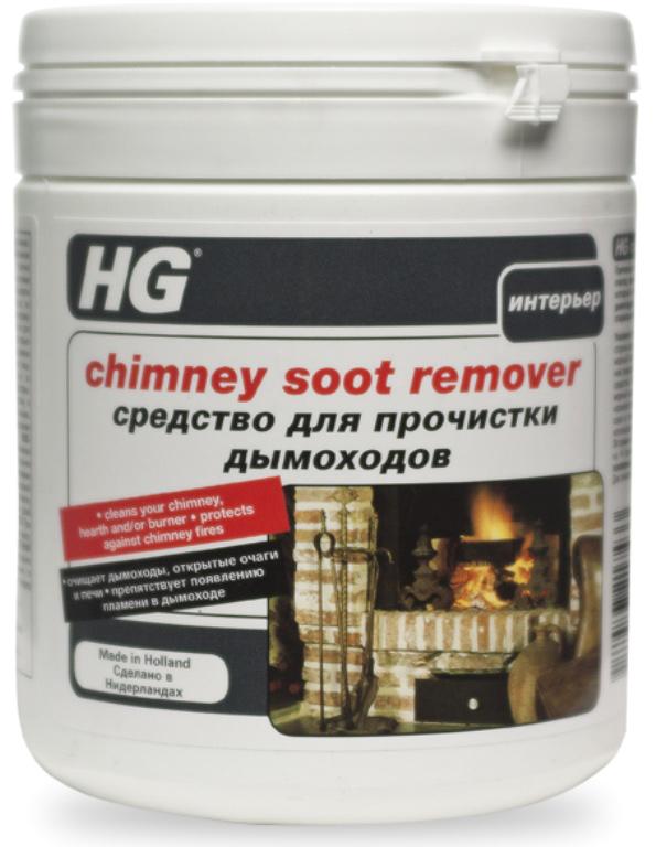 Средство HG для очистки дымоходов, 500 г средство hg для очистки микроволновых печей 500 мл
