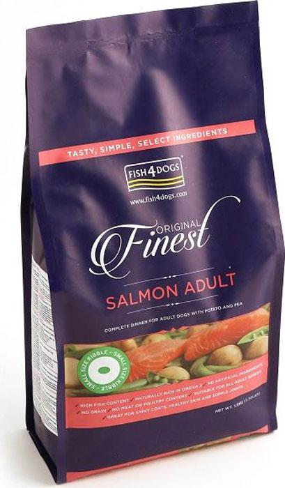 Корм сухой Finest  Salmon Adult  , для собак мелких пород, с лососем и картофелем, 1,5 кг
