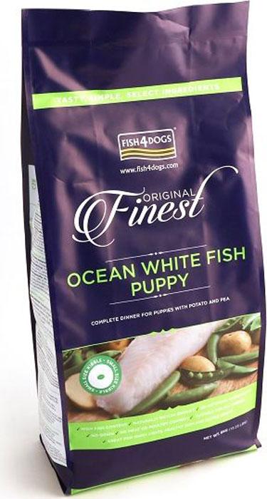 Корм сухой Finest Ocean White Fish Puppy, для щенков мелких пород, с рыбой и кратофелем, 6 кгPFC892Finest Ocean White Fish Puppy - полнорационный сбалансированный сухой корм для щенков мелких, средних и крупных пород приготовлен из свежей океанической белой рыбы с повышенным содержанием белка, что обеспечивает идеальное полноценное питание и развитие растущего щенка. Содержит оптимальный баланс белков, жиров, углеводов и минеральных веществ. Не содержит глютена, красителей и консервантов. Подходит для щенков с чувствительным пищеварением, а так же беременных и кормящих сук.