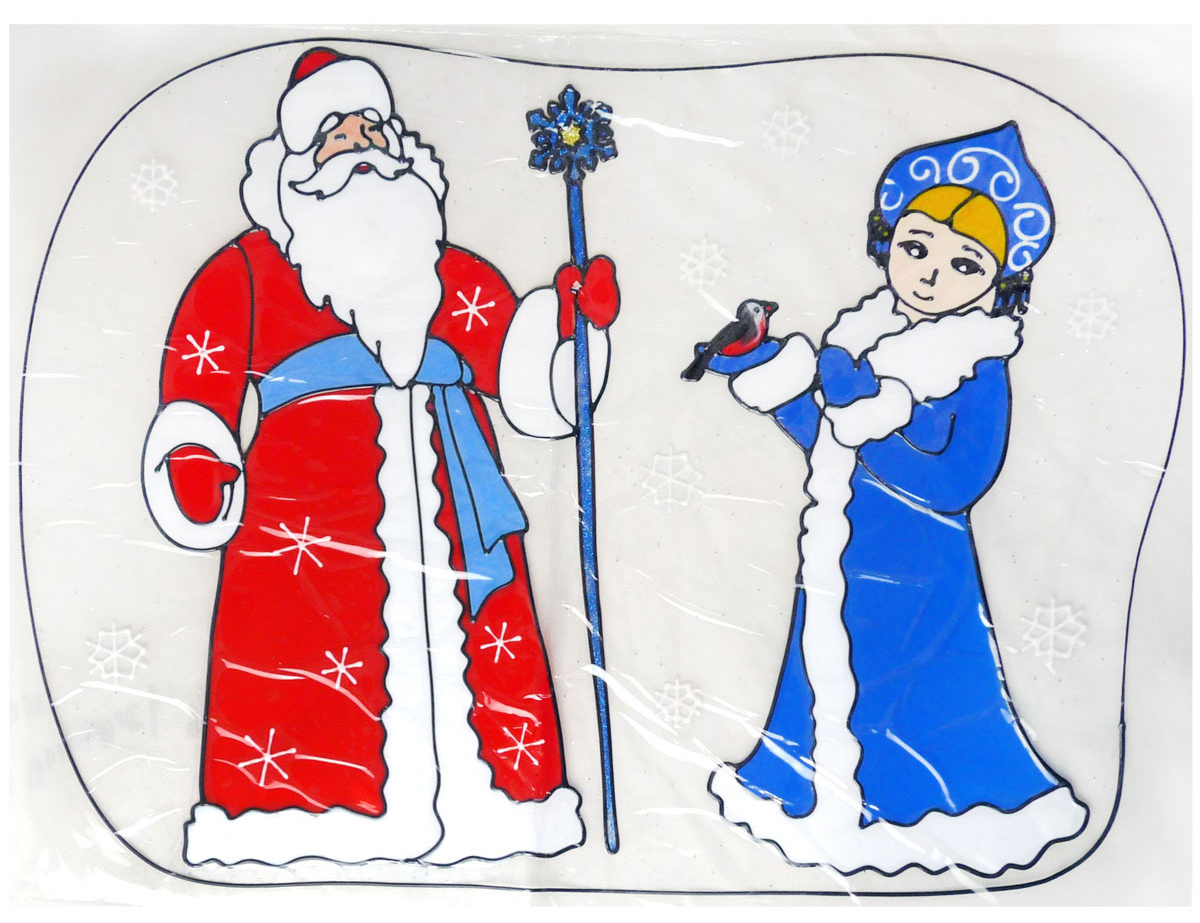 Наклейка декоративная Winter Wings Дед Мороз и Снегурочка, 45 х 60 см интерьер и декор