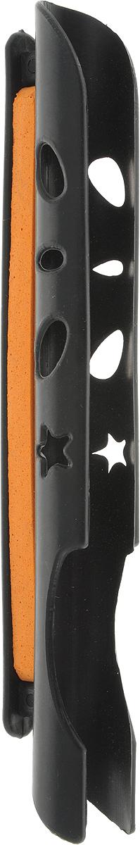 Мотовило AGP, с крепежом на удилище, цвет: черный, оранжевый, 6,3 мА-003_черный, оранжевыйAGP - удобное мотовило, которое обеспечит удобное хранение и транспортировку поводков или лески любой длины. Мотовило изготовлено из пластика.