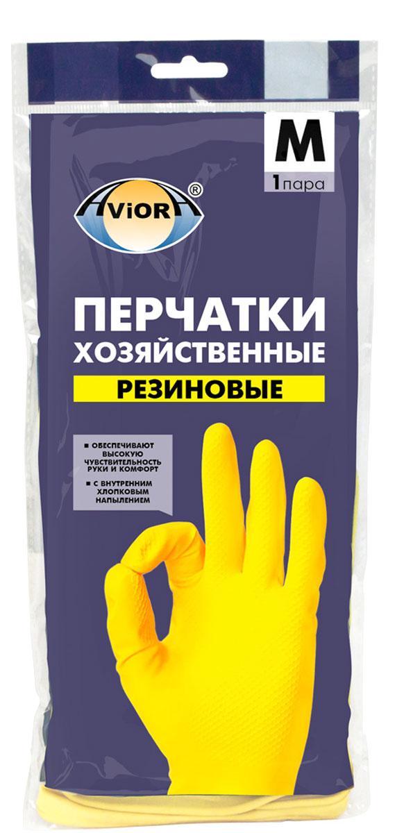 Перчатки хозяйственные Aviora, резиновые, размер 8 (M)402-567Высокая чувствительность руки Анатомическая формаВнутреннее хлопковое напылениеПовышенная плотностьПредназначены для защиты рук во время домашней уборки,строительных работ. Перчатки Aviora препятствуют вредному воздействию бытовых химическихсредств, пищевых жиров и грязи на кожу рук.