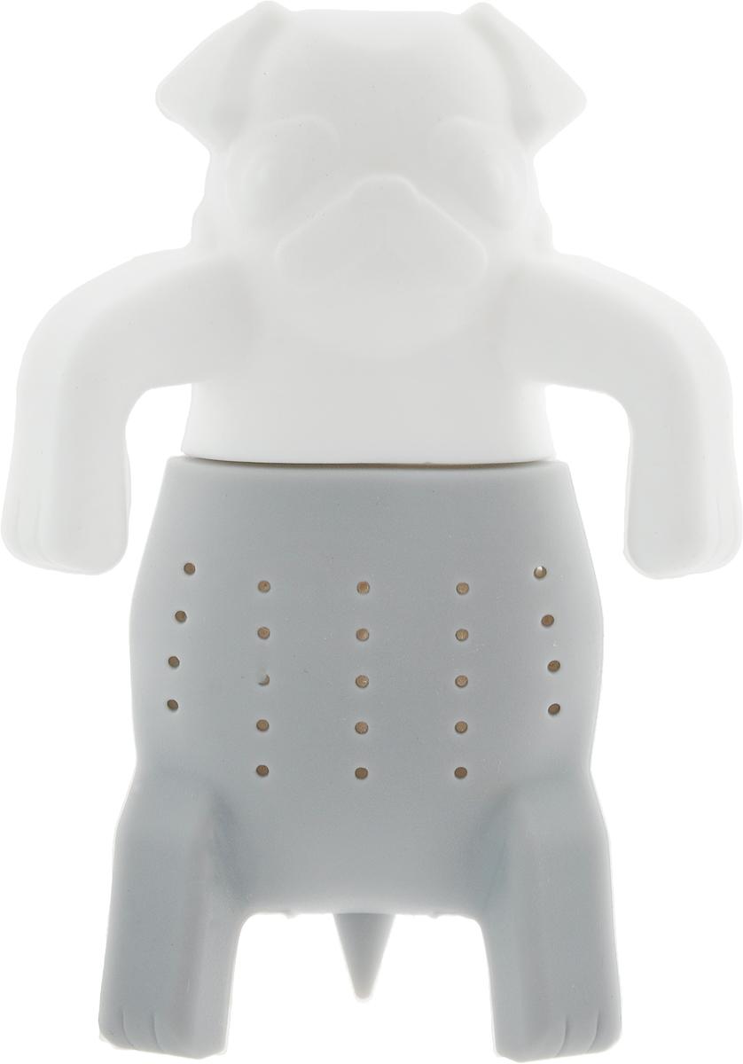 Ситечко для заваривания чая Marmiton Собака, цвет: белый, серый, 9,5 х 6,5 см16177_белый, серыйСитечко Marmiton Собака выполнено из силикона. Изделие предназначено для заваривания чая.Материал устойчив к фруктовым кислотам, к воздействию низких и высоких температур. Невзаимодействует с продуктами питания и не впитывает запахи.Можно мыть и сушить впосудомоечной машине.