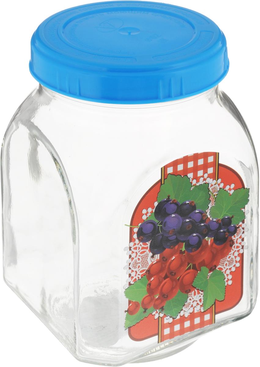 Банка для хранения варенья Квестор Смородина, c крышкой, цвет: прозрачный, синий, 800 мл626-018_прозрачный, синийБанка Квестор Смородина, изготовленная из стекла, прекрасно подойдет для консервирования и хранения варенья, а особенно смородинового, поскольку внешние стенки оформлены изображением этих ягод. Емкость снабжена пластиковой крышкой, которая плотно и герметично закрывается, дольше сохраняя аромат и свежесть содержимого. Банка Квестор Смородина станет полезным приобретением и пригодится на любой кухне.Высота банки: 14 см.Диаметр (по верхнему краю): 7,5 см.Уважаемые клиенты! Обращаем ваше внимание на возможные изменения в цвете крышек. Поставка осуществляется в зависимости от наличия на складе.