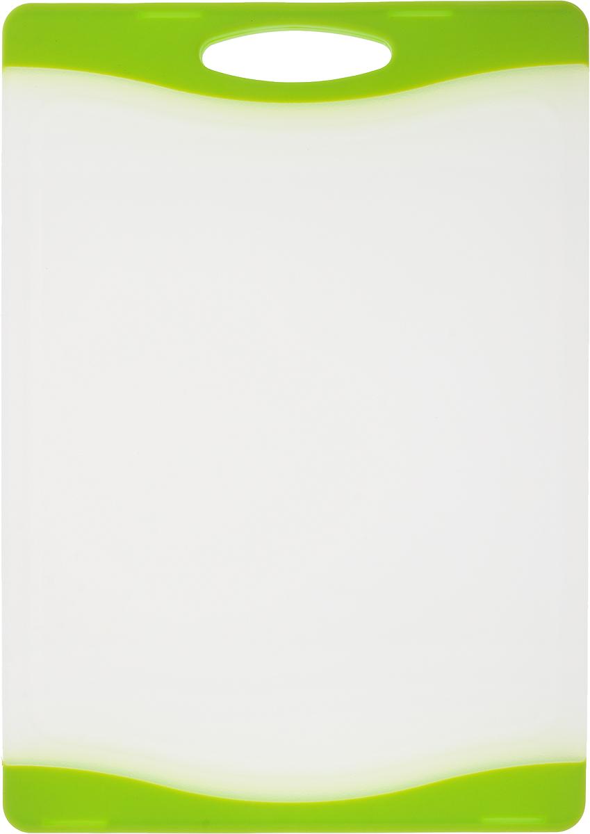 """Доска разделочная """"Zeller"""", цвет: прозрачный, салатовый, 29,3 х 20 х 1 см"""