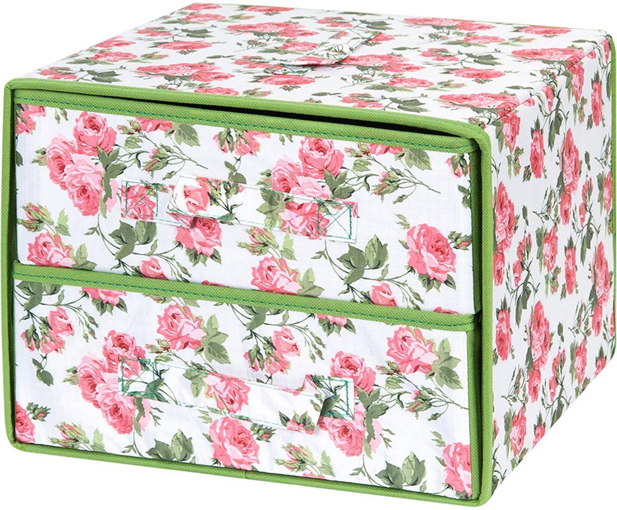 Кофр для хранения вещей El Casa Розовый рассвет, с 2 выдвижными ящиками, 30 х 30 х 23 см840269Кофр предназначен для хранения различных вещей и состоит из 2 вместительных выдвижных секций. Такой необычный и яркий комод надежно защитит вещи от загрязнений, пыли и моли, а также позволит вам хранить их компактно и с удобством.