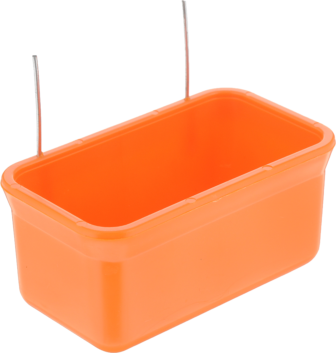 Кормушка для птиц Каскад Бриллиант, цвет: оранжевый, 40 мл. 3330080233300802_оранжевыйКормушка для птиц Каскад Бриллиант выполнена из прочного пластика и имеет прямоугольную форму. Отлично подойдет для кормления вашей птички. Изделие оснащено двумя удобными металлическими крючками.Объем кормушки: 40 мл. Размер кормушки: 9,5 х 5,5 х 4,5 см. Уважаемые клиенты! Обращаем ваше внимание на ассортимент в цвете товара. Поставка возможна в одном из вариантов нижеприведенных цветов, в зависимости от наличия на складе.