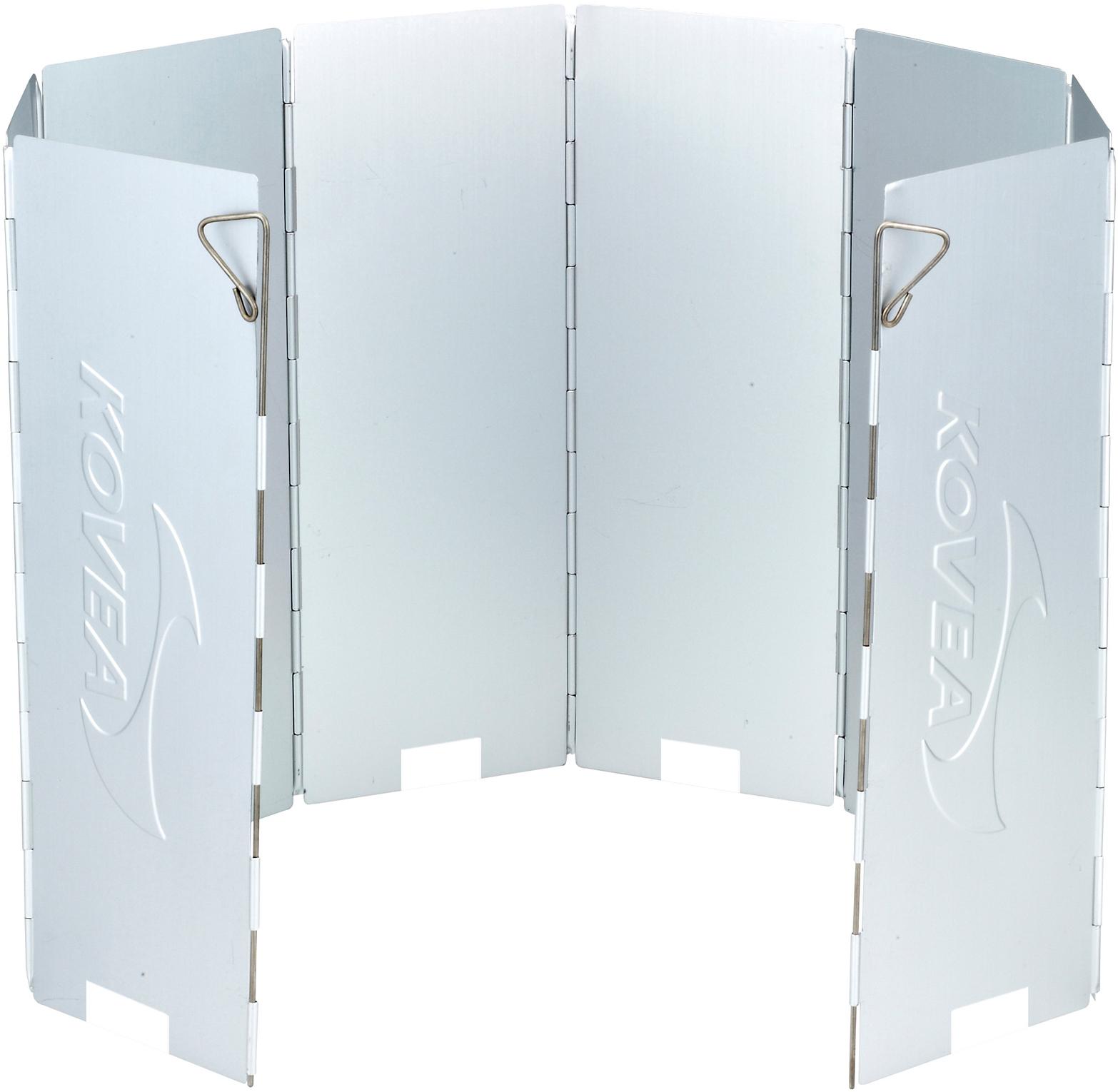 Экран ветрозащитный Kovea KW-010130872Складной восьмисекционный алюминиевый ветрозащитный экран для защиты пламени горелки от ветра. Применение экрана в полтора раза экономит топливо и уменьшает время приготовления пищи. Во избежание перегрева баллона при работе с горелками без шланга следите за тем, чтобы при установке экрана между ним и кастрюлей всегда оставалось несколько сантиметров для выхода тепла, иначе пьезоподжиг или другие пластиковые детали могут оплавиться и выйти из строя.Комплектация: ветрозащитный экран, пластиковый чехол.