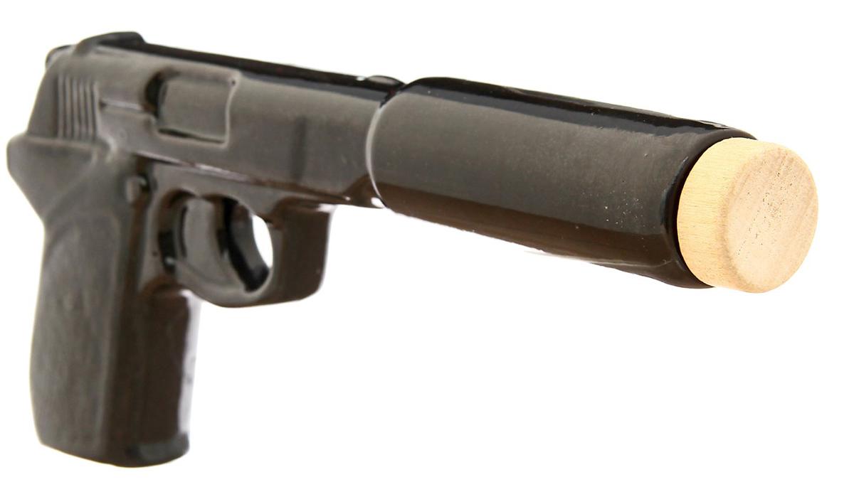 Штоф Керамика ручной работы Пистолет с глушителем, 100 мл. 2174434 минибар д коньяка и водки 12 пр стекло