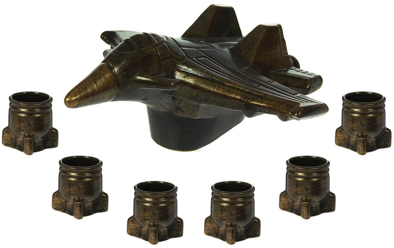 Набор Керамика ручной работы Самолет: штоф, 700 мл, 6 рюмок. 1319495