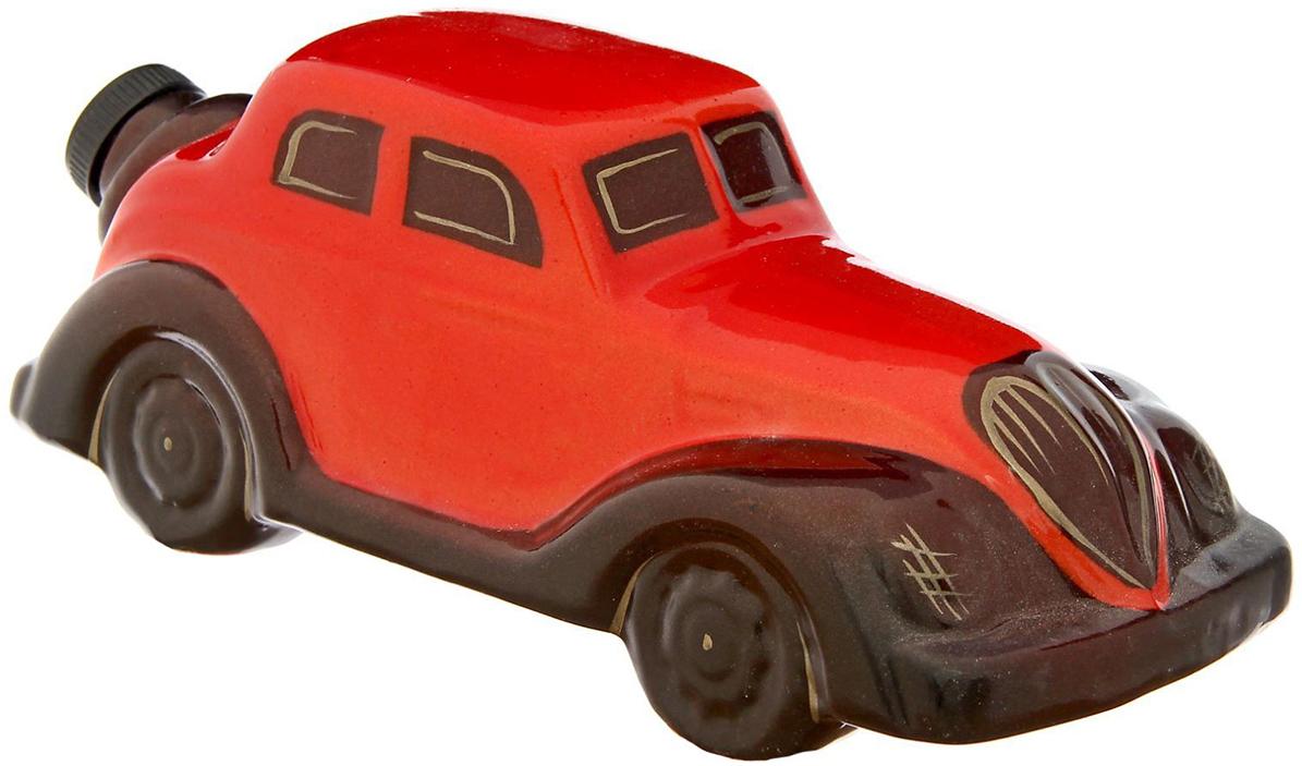 Штоф Керамика ручной работы  Машина , цвет: красный, коричневый, 500 мл - Туристическая посуда