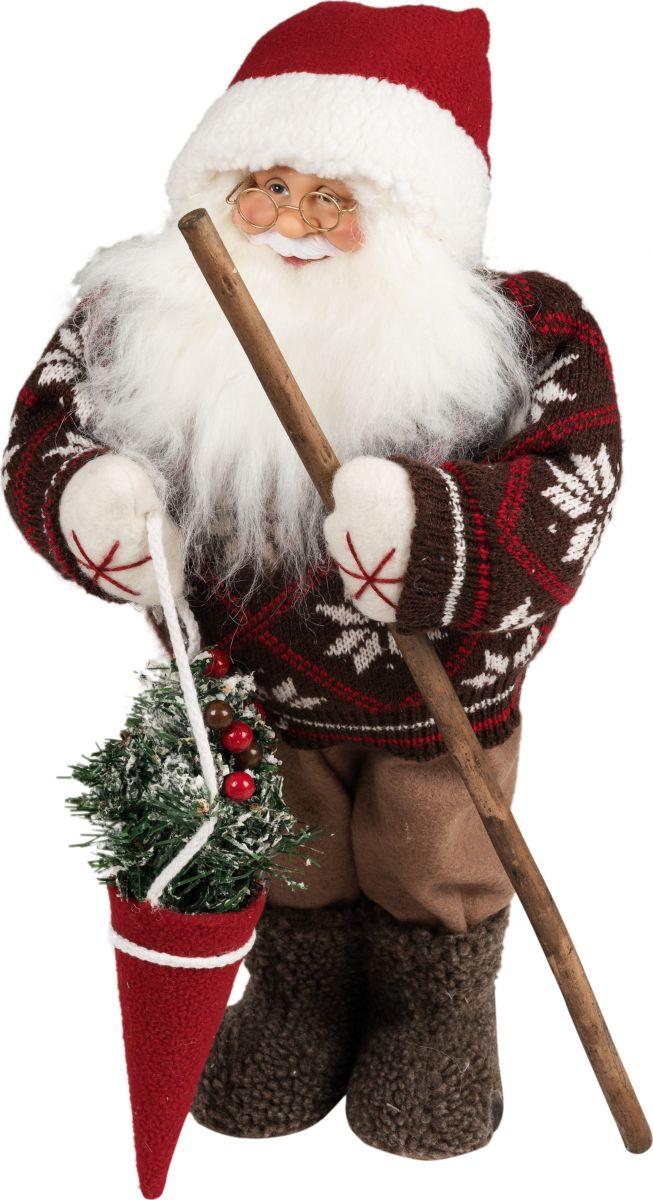 Фигурка праздничная Estro Дед Мороз в валенках. C21-181468C21-181468Интерьерная игрушка ESTRO ручной работы