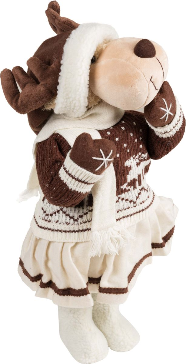 Фигурка праздничная Estro Лосенок-девочка в юбочкеC21-221066Интерьерная игрушка ESTRO ручной работы