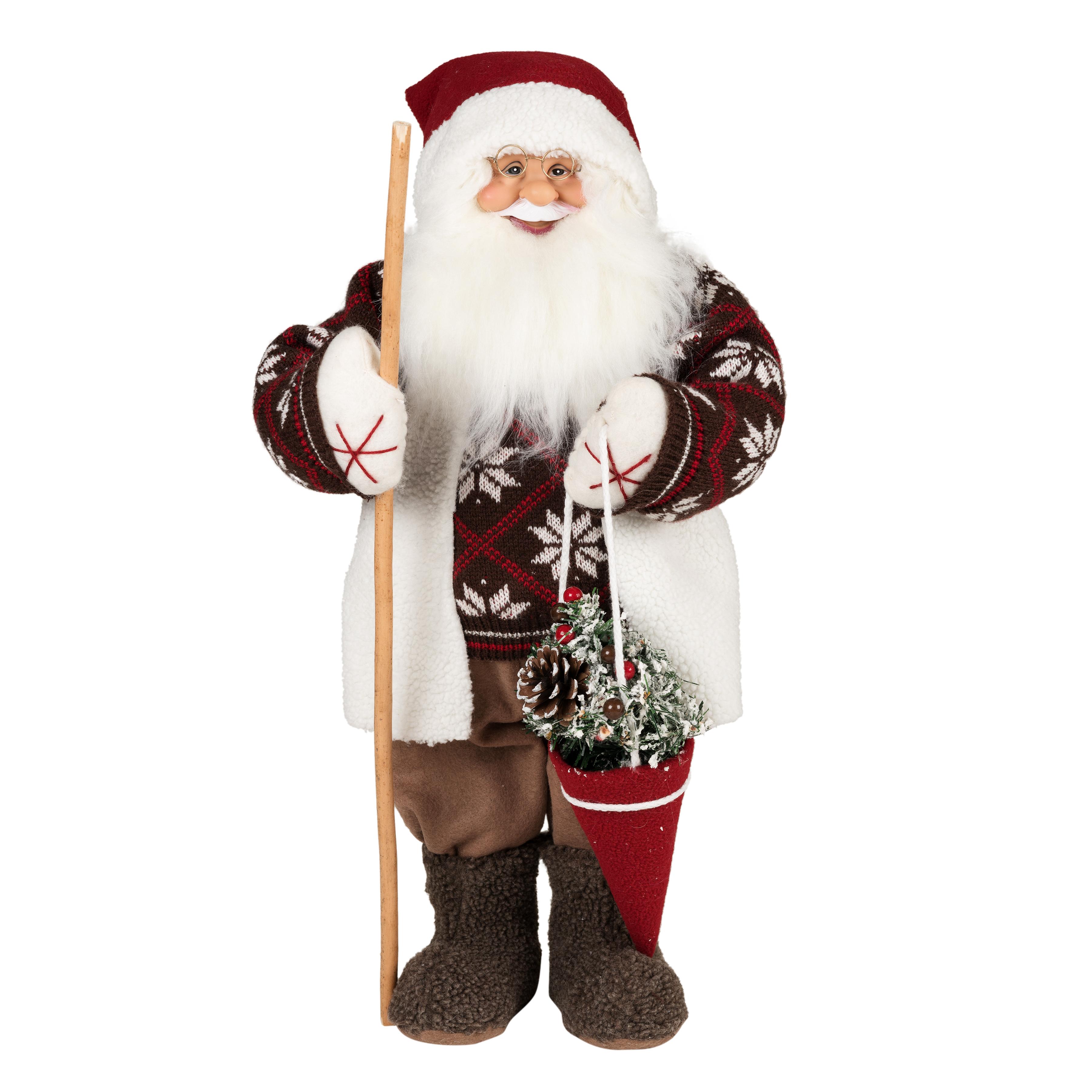 Фигурка праздничная Estro Дед Мороз в валенкахC21-241266Интерьерная игрушка ESTRO ручной работы