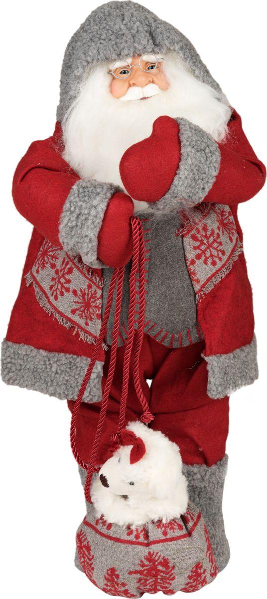 Фигурка праздничная Estro Дед Мороз с мишкой в мешке толстовка с мишкой худи где
