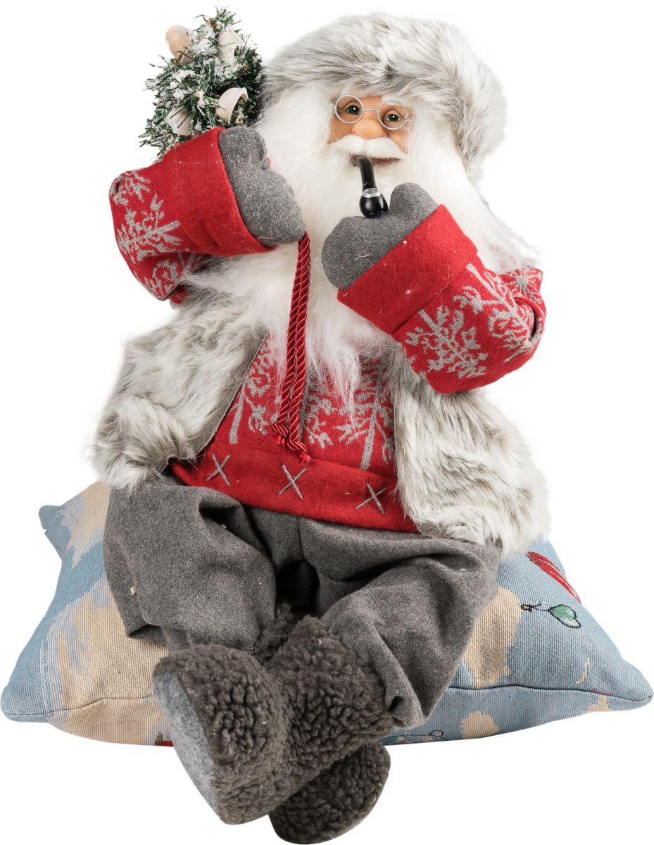 Фигурка праздничная Estro Дед Мороз с трубкой