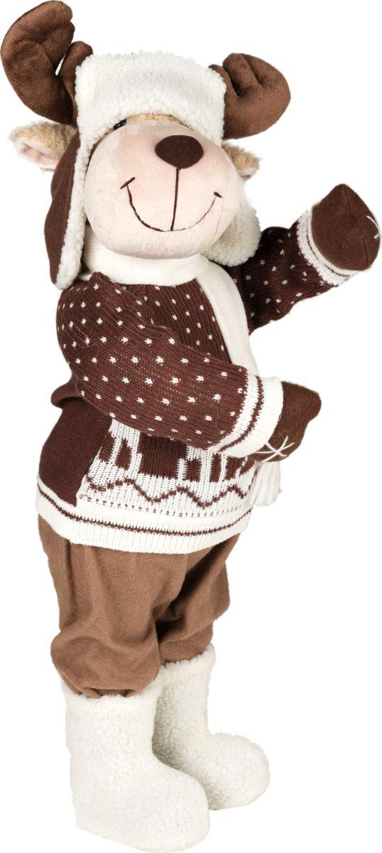 Фигурка праздничная Estro Лосенок в свитереC21-281056Интерьерная игрушка ESTRO ручной работы