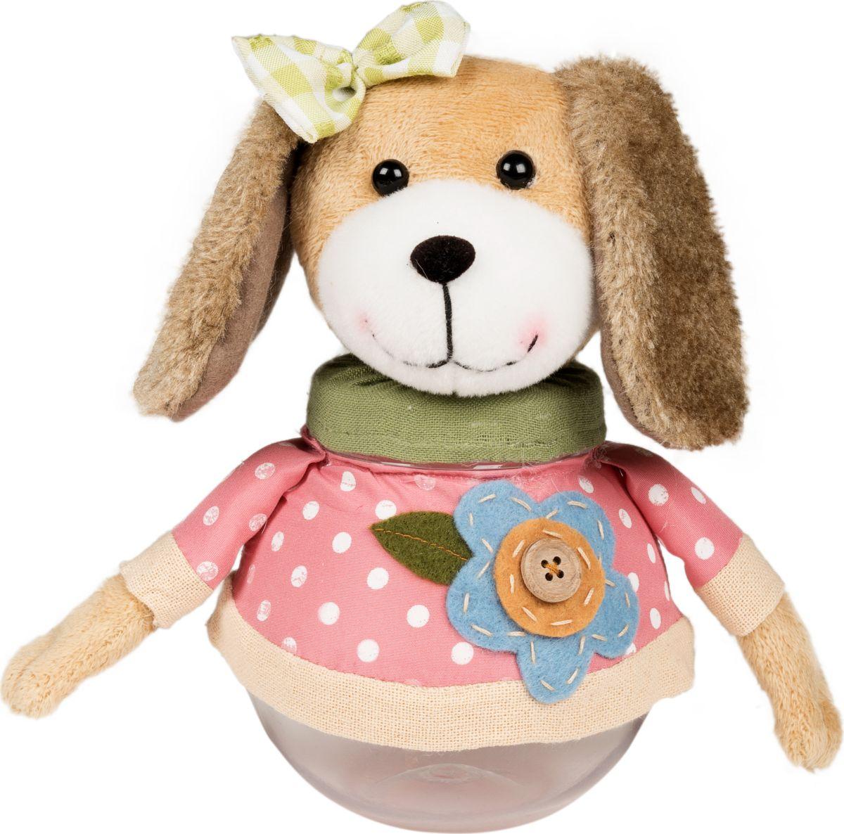 Фигурка праздничная Estro Розовая собачка (контейнер)YD130178Интерьерная игрушка ESTRO ручной работы. Собачка - контейнер, это игрушка для подарков, в ней можно хранить всякую мелочь. Можно использовать как шкатулку или копилку. Пригодится в детской комнате, на кухни, в гостиной. Верхняя часть фигурки откручивается.