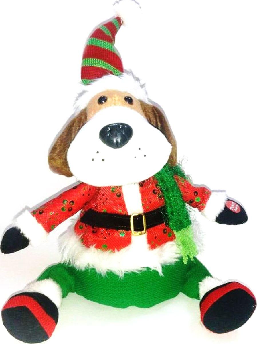 Фигурка праздничная музыкальная Estro Собачка. YD160339 мягкие игрушки estro совёнк подмигивающий