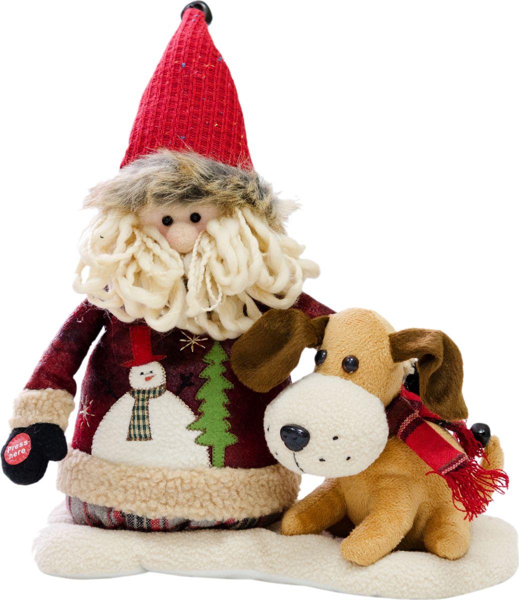 Фигурка праздничная музыкальная Estro Дед Мороз с собачкойYD160382Интерьерная игрушка ESTRO ручной работы. Музыкальная - дед мороз весело под музыку качает головой. Батарейки в комплект не входят.