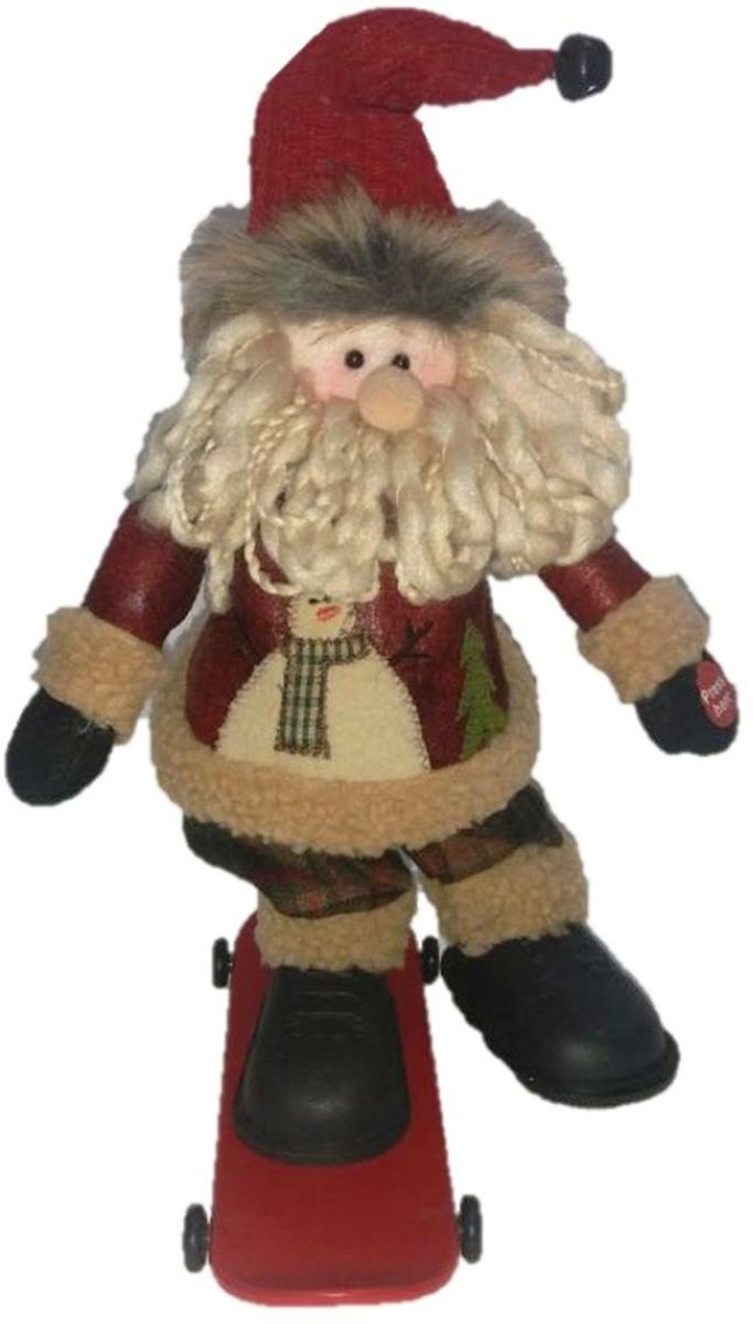 Фигурка праздничная музыкальная Estro Дед Мороз на скейтбордеYD160389AИнтерьерная игрушка ESTRO ручной работы. Музыкальная - мастерски катается на скейтборде и поет. Батарейки в комплект не входят.