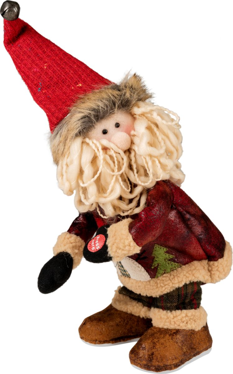 Фигурка праздничная Estro Дед Мороз музыкальный и танцующийYD160456Интерьерная игрушка ESTRO ручной работы. Музыкальная - поет и забавно танцует Тверк. Батарейки в комплект не входят. Батарейки в комплект не входят.