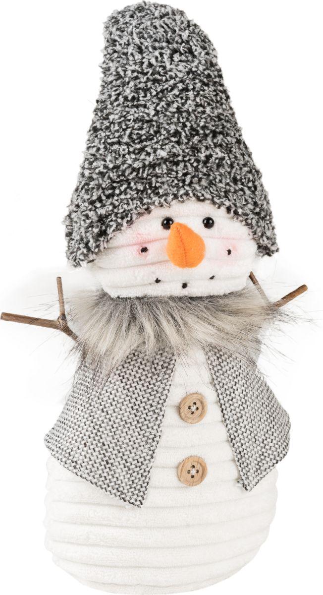 Фигурка праздничная Estro Снеговик в колпачке. YD160482AYD160482AИнтерьерная игрушка ESTRO ручной работы - милый Снеговичок украсит новогодний интерьер. Задорный оранжевый носик привлекает внимание. А ручки -веточки распахнуты для объятий.